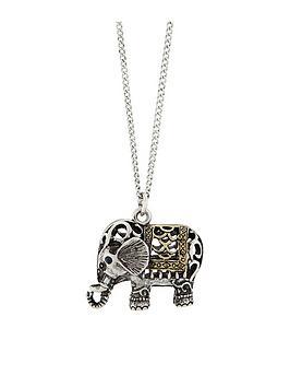 accessorize-elephant-long-pendant