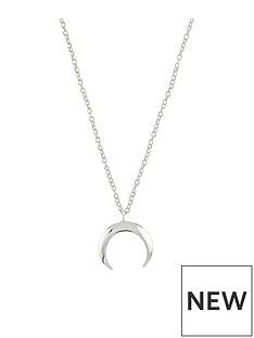 accessorize-sterling-silver-crescent-necklace-silver
