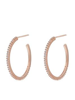 accessorize-pave-hoop-earrings-rose-gold
