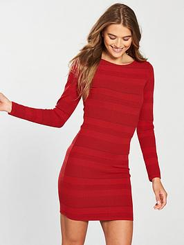 superdry-aria-bodycon-dress-red