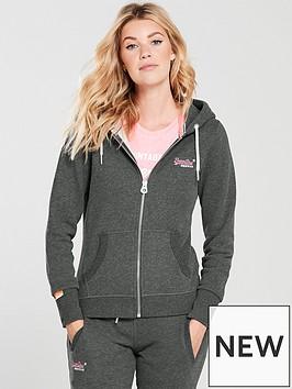 superdry-logo-zip-hoodienbsp--charcoal-marl