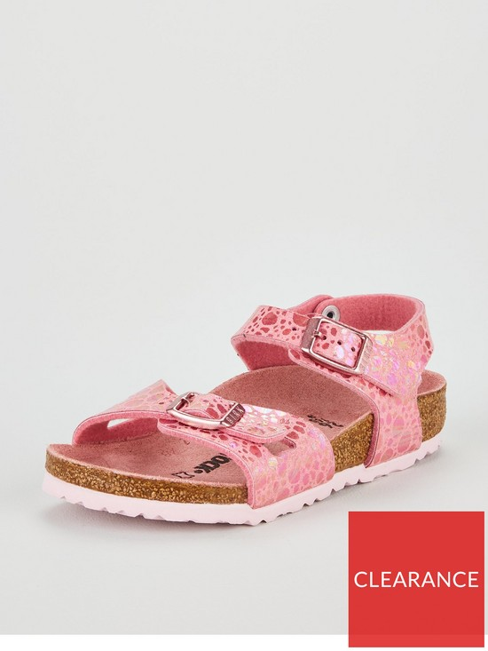 b98536be88ea Birkenstock Girls Rio Sandals - Metallic Stones Pink