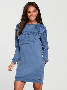 superdry-luna-broderie-sweat-dress-blue