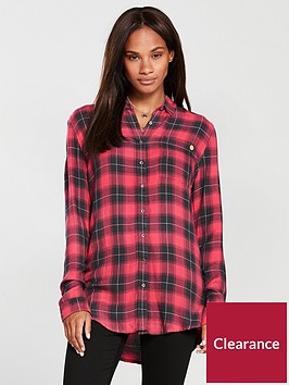 superdry-maya-supersize-shirt-red-grey