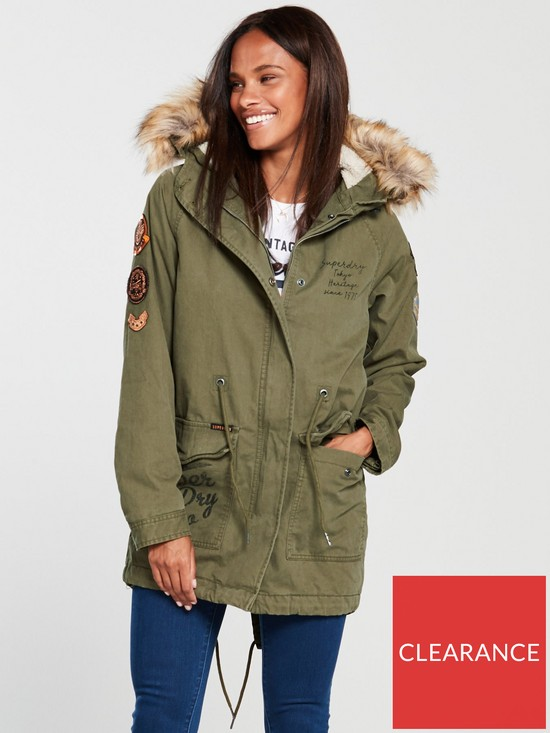 Weather uk co Rookie Khaki Tiger Heavy Very Parka Superdry qvFfwZxEA