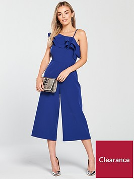 v-by-very-petite-ruffle-one-shoulder-culotte-jumpsuit-blue