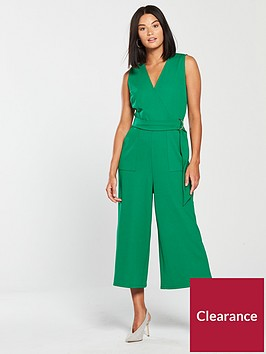 v-by-very-wrap-wide-leg-jumpsuit-green