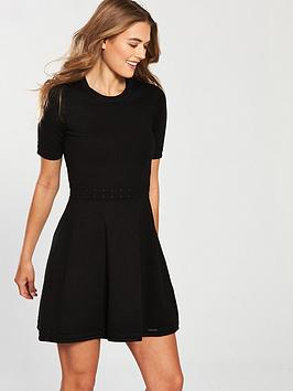 superdry-riley-fit-amp-flare-knitted-dress-blacknbsp