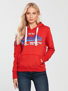 superdry-satin-vintage-logo-bonded-overhead-hoodienbsp--dark-red
