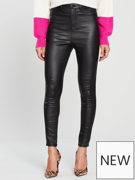 P-leather Jeans