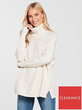 superdry-maya-ribbed-poncho-cream