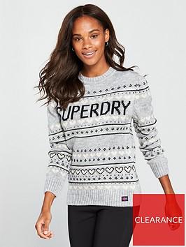 superdry-cleveland-fair-isle-knit-mid-grey