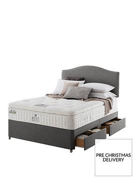 rest-assured-richborough-latex-pillowtop-divan-bed-with-storage-options--nbspsoft