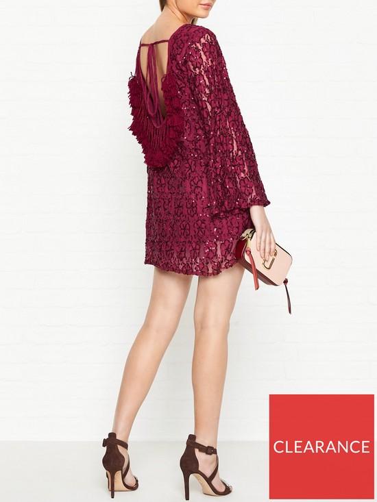 d566aa02ef5 SUNDRESS Indiana Christmas Tassel Back Dress - Red
