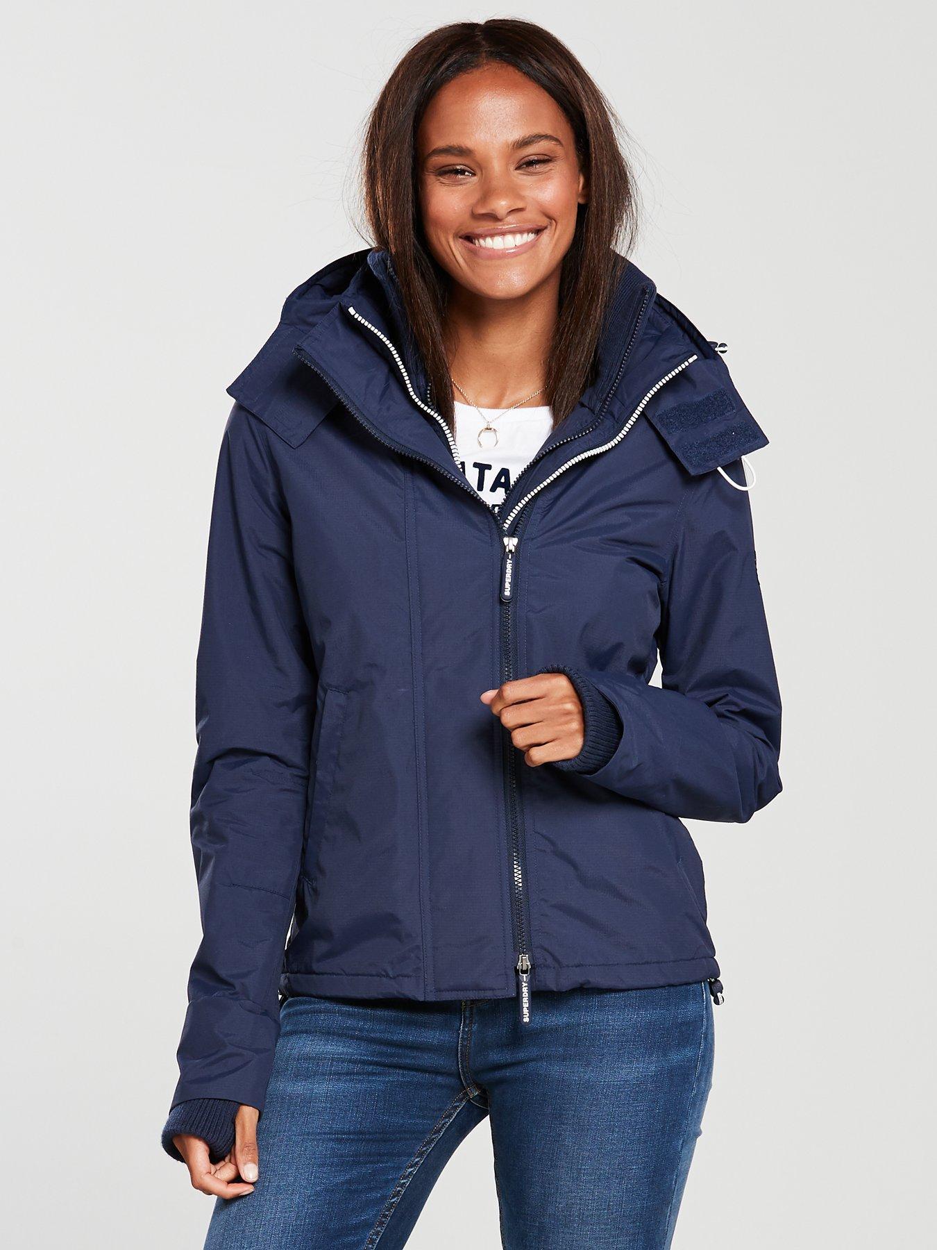 Dark element hooded parka jacket superdry