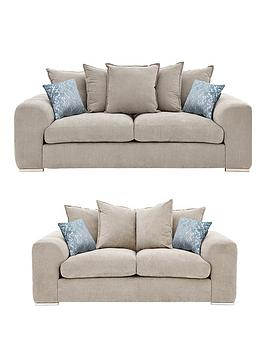 Cavendish Sophia 3 Seater + 2 Seater Fabric Scatter Back Sofa Set (Buy And Save!)