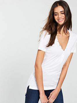 v-by-very-popper-neck-t-shirt-white