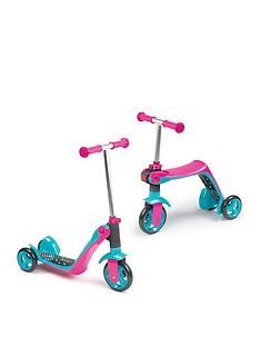 Smoby Reversible 2-in-1 Scooter – Pink