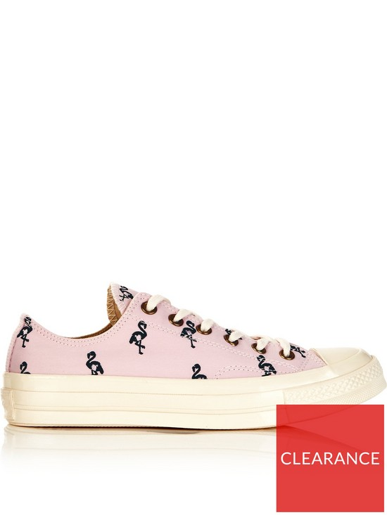 4c31a1210ed CONVERSE Chuck Taylor All Star 70 Ox Flamingo Print Trainers - Pink ...