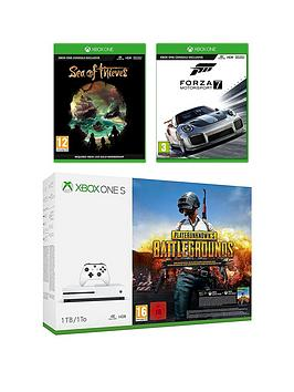 xbox-one-s-1tbnbspconsole-with-playerunknowns-battlegrounds-sea-of-thieves-and-forza-7nbspplus-optional-extra-controller-andor-12-months-live-gold
