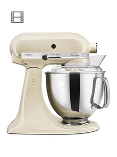 KitchenAid Artisan 4.8-Litre Tilt Head Stand Mixer - Cream