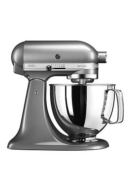 kitchenaid-artisan-48-litre-tilt-head-stand-mixer-silver