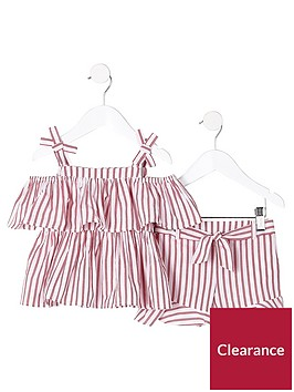river-island-mini-girls-red-stripe-cami-and-shorts-outfit