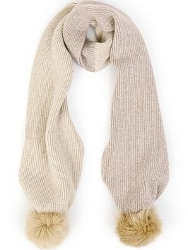 ps-paul-smith-pom-pom-wool-knit-scarfnbsp-nbspcreamoatmeal