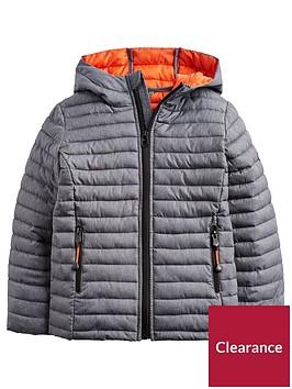joules-boys-cairn-marl-hooded-packaway-jacket-grey