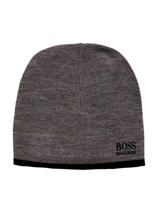 661c80d07e9f3 BOSS Wool Mix Beanie Hat - Grey