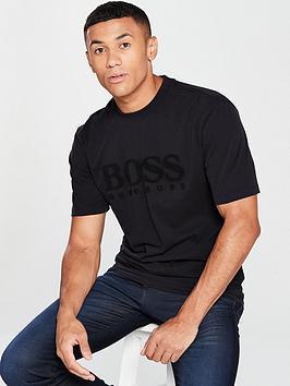 boss-casual-flock-logo-t-shirt