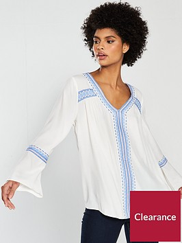 wallis-embroidered-v-neck-blouse