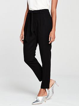 wallis-paperbag-trouser-black