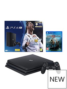 playstation-4-pro-pronbsp1tbnbspconsole-with-fifa-18-and-god-of-war-plus-optional-extra-controller-andor-12-months-playstation-network