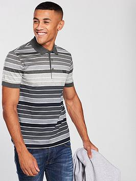 boss-fine-stripe-polo-shirt--grey