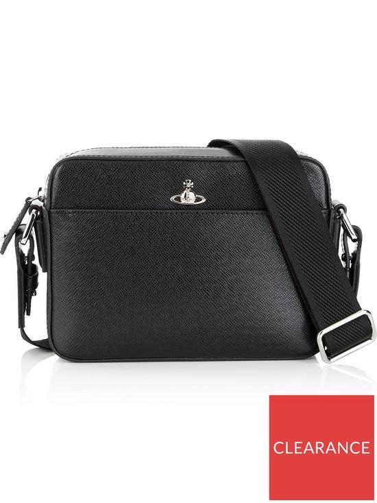 93d5b2bb8ff VIVIENNE WESTWOOD Men's Kent Leather Cross-Body Bag - Black | very.co.uk