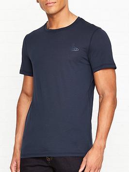 vivienne-westwood-classic-orb-logo-slim-fit-t-shirtnbsp--navy