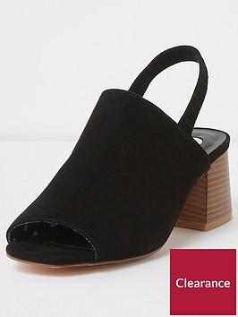 river-island-river-island-wide-fit-sling-back-shoes--black