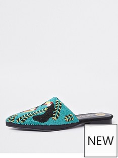 river-island-river-island-toucan-embellished-slip-on--black