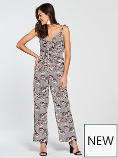 river-island-sleevelessnbspprinted-bow-front-jumpsuit-black