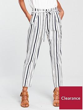 river-island-striped-peg-trouser-navy