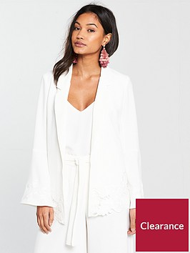river-island-river-island-frill-sleeve-embroided-blazer-white