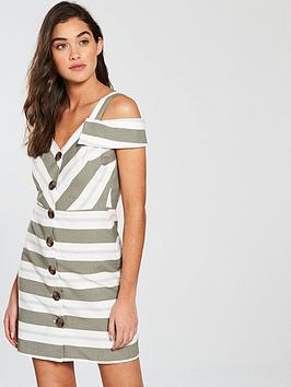 river-island-short-sleeved-waisted-dress-stripe