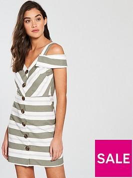 river-island-short-sleeved-waisted-dress-stripe