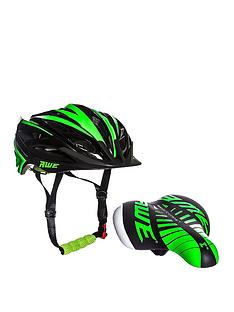 Awe Kids Green Helmet/Saddle Set