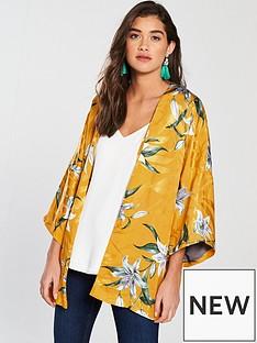 river-island-jacquard-floral-kimono-yellow