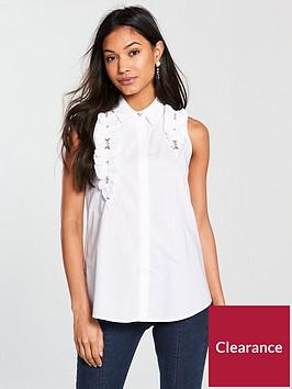 river-island-river-island-embellished-sleeveless-shirt--white