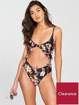 river-island-knot-front-printed-swimsuit--navy