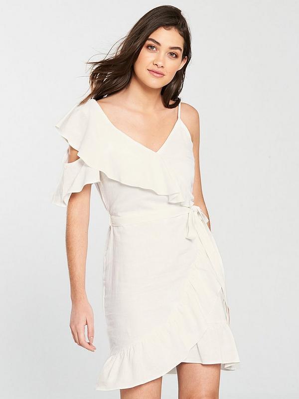 Frill Detail Dress - White