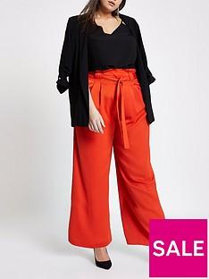 ri-plus-wide-leg-trousers-red